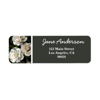 White Rose Abstract Return Address Label