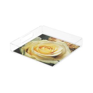 White Rose Acrylic Tray