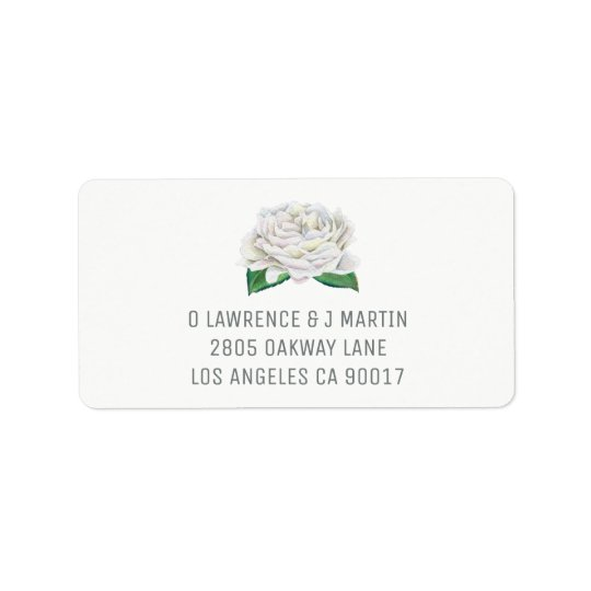 White Rose Address Labels