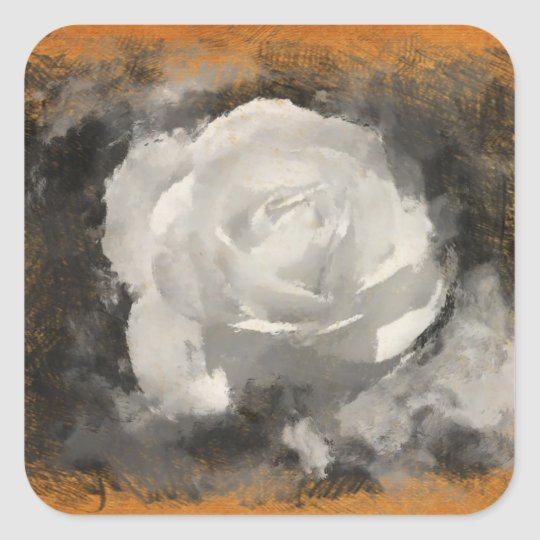White Rose Art Stickers