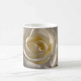 White rose basic white mug