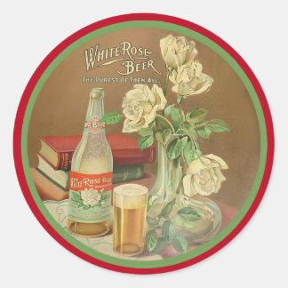 White Rose Beer Round Sticker