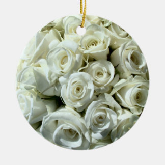 White Rose Bouquet-Ornament Christmas Ornament