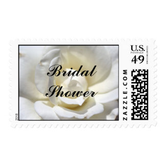 White Rose, Bridal Shower Postage Stamp