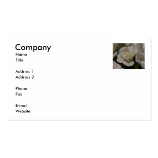 White Rose Double-Sided Standard Business Cards (Pack Of 100)
