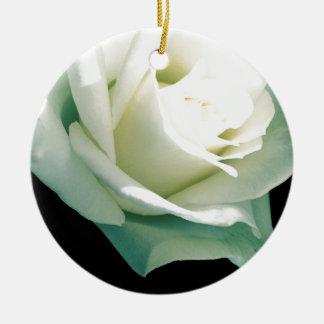 White rose christmas ornament
