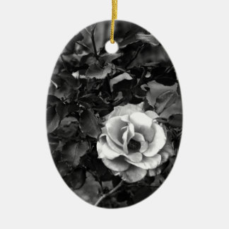 White Rose Collection Ceramic Oval Decoration