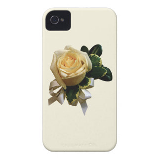 White Rose Corsage iPhone 4 Cases