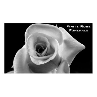 White Rose design funeral services business Pack Of Standard Business Cards