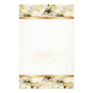 White Rose Elegance Stationery Design