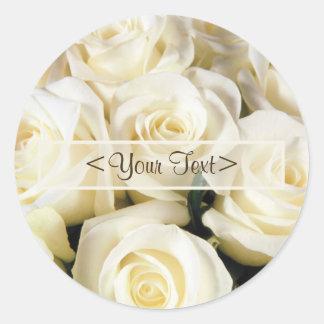 White Rose Elegance Stickers