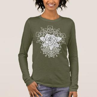White Rose Fancy Mandalas Cool Graphic Long Sleeve T-Shirt