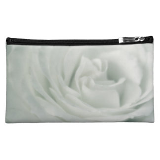 White Rose Floral Make Up Cosmetic Bag
