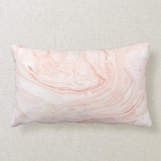 White & Rose-Gold Marble Pattern Lumbar Cushion