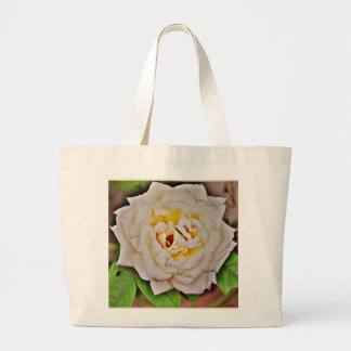 White Rose in Chrome Jumbo Tote Bag