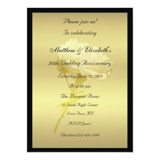 White Rose in Golden Hues Anniversary Card