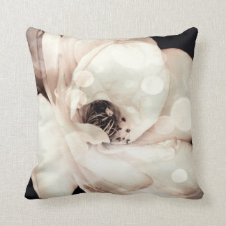 White Rose in Sepia, Throw Pillow Cushions