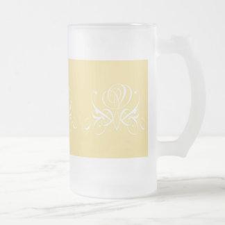White Rose in Sunshine Yellow Mugs