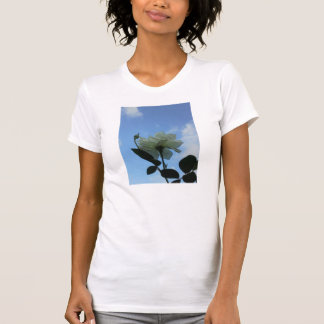White Rose In The Blue Sky Tee Shirt