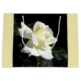 White rose large gift bag