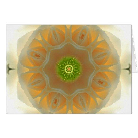 White Rose Mandala Card
