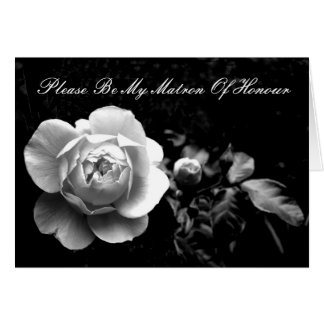 White Rose Matron Of Honour Card