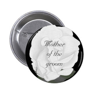 White rose Mother of the groom button