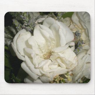 White Rose Mouse Mat