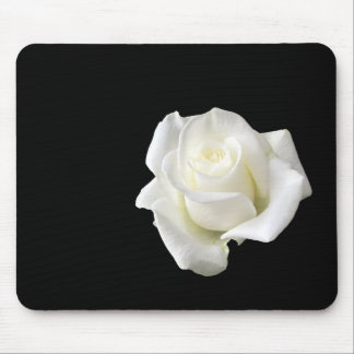 white rose mouse mat