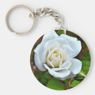 White Rose of Love Keychains