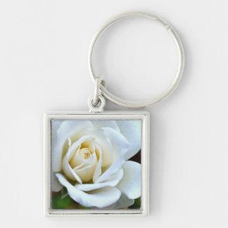 White Rose of Love Key Chain