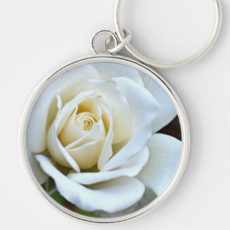 White Rose of Love Key Chains