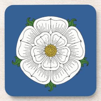 White Rose of York Beverage Coasters