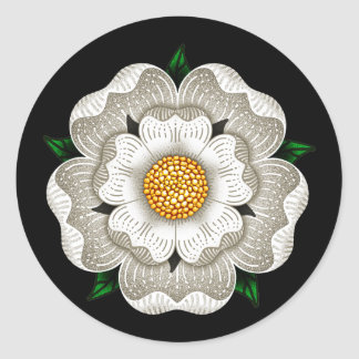 White Rose of York Classic Round Sticker