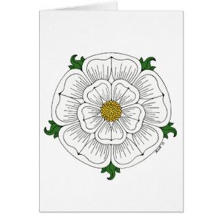 White Rose of York Greeting Card