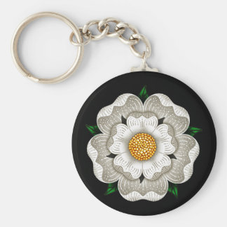 White Rose of York Key Ring