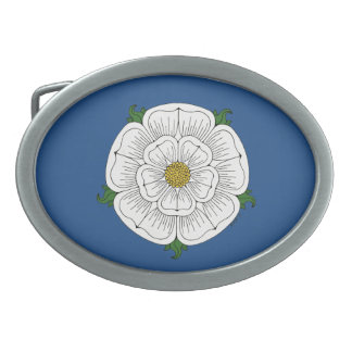White Rose of York Oval Belt Buckle