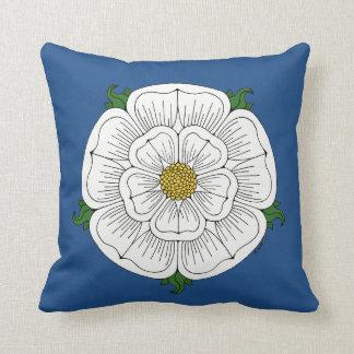 White Rose of York Pillow Throw Cushion