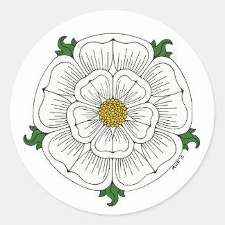 White Rose of York Round Sticker