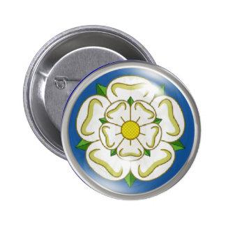 White Rose of Yorkshire Flag Pins
