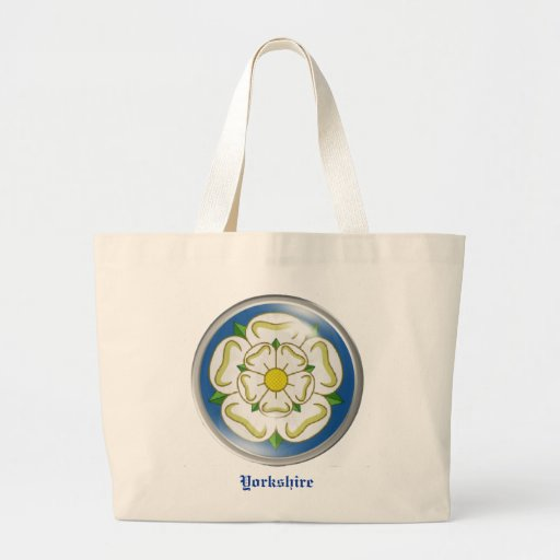 White Rose of Yorkshire Flag Canvas Bags