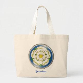 White Rose of Yorkshire Flag Large Tote Bag