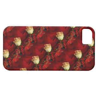 White rose on red background iPhone 5 covers