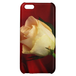 White rose on red background iPhone 5C covers
