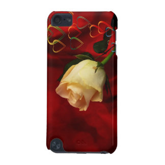 White rose on red background iPod touch 5G case