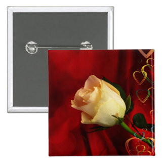 White rose on red background pins
