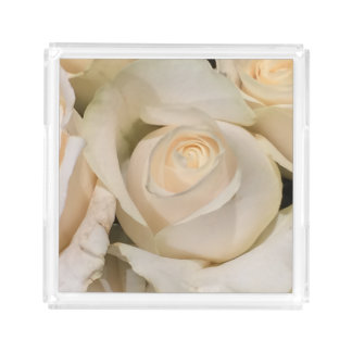 White Rose Perfume Tray Gift