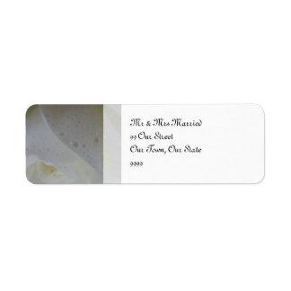 White Rose Petal Wedding Return Address Label