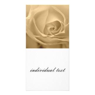 white rose custom photo card