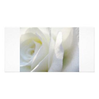 White Rose Customized Photo Card